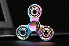 Rainbow Tri-Spinner Fidget Finger High Speed Spin EDC Desk Toy Stress Relieve