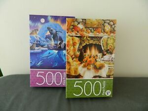 New Puzzle 500 Piece Puzzle Warmth of Autumn & Arctic Harmony Age 6+ By Cardinal