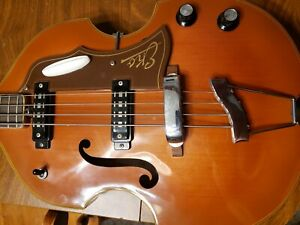 1960's Eko 995 Violin Bass Natural