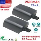 2Pack Upgrade Battery for Parrot Bebop Drone 3.0 Quadcopter Parts 2500mAh