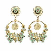 Fashion Vintage Exaggerated Flower Big Circle Ear Stud Drop/Dangle Earrings Hot