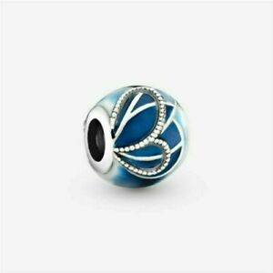 Authentic Pandora Blue Butterfly Wing Bead Silver S925 charm 797886