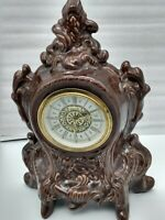 Vintage Mercedes German Porcelain Ceramic Wind-Up Mantel Clock - Beautiful