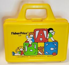Vintage Fisher Price Quaker Oats 1979 ABC school lunchbox w/ thermos #638 yellow