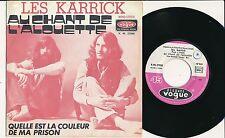 """LES KARRICK 45 TOURS 7"""" FRANCE AU CHANT DE L'ALOUETTE (HIT-PARADE CANADIEN)"""