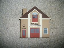Retired 1986 Cats Meow Village Series Iv O'Malley'S Livery Stable Pine