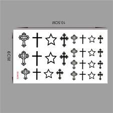 Piccola CROCE CROCI CELTICHE stelle Body Art icone Temporaneo Tatuaggio Falso