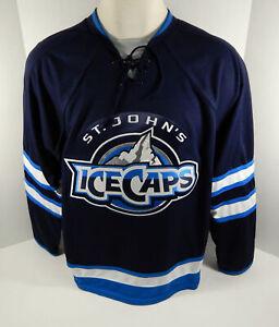 St. Johns Ice Caps Blank Authentic Replica Blue Jersey L MMRH0249