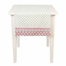 Tischläufer TARA Rosa Weiß Grün 50x140 cm Landhausstil Shabby