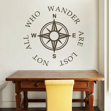 Compass Wall Decal Inspiration Removable Vinyl Saying Nursery Baby Bedroom Decor