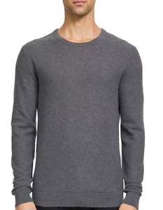 Theory Riland Crewneck Piqué Sweatshirt GRHE NWT $185