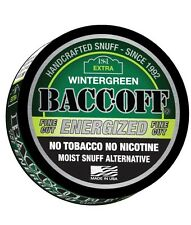 BACC-OFF Non-Tobacco Nicotine Free Herbal Snuff - Energized Wintergreen - 1 Can