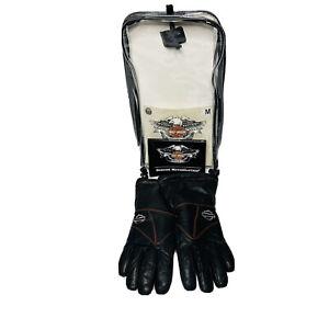 Harley Davidson Heated Leather Gloves Medium, Black Orange Barley Used $200 MSRP