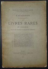 Catalogue d'un choix de livres rares et précieux en maroquin / 1890