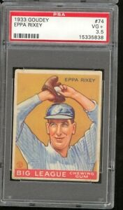 1933 Goudey Eppa Rixey #74 Cincinnati Reds PSA 3.5 SET BREAK