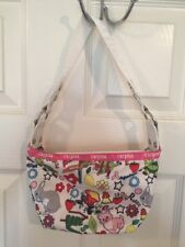 Carpisa purse Hobo Italy White Graphic Novelty Design Juniors Women's