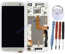 ECRAN LCD + VITRE TACTILE SUR CHASSIS COMPLETE POUR HTC ONE MINI 2 ARGENT BLANC