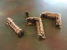 25-28 MM Painted Wargames Terrain 3 Pieces Sandbags