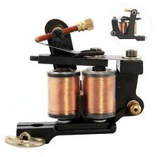 Tattoo Machine Gun Rotary Motor Shader Liner 8 Wrap Coils Alloy Black Pro