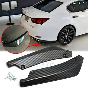 Carbon Fiber Rear Bumper Fin Diffuser Splitter Canard Lips Fit Lexus IS ES GS RC
