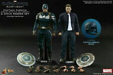 1/6 Hot Toys Captain America and Steve Rogers Deluxe Set, MMS243 (New)