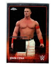 WWE John Cena 2015 Topps Chrome Event Used Shirt Relic Card Black
