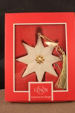 Lenox Pleated Star 3.25 inch Christmas Tree Ornament Nib