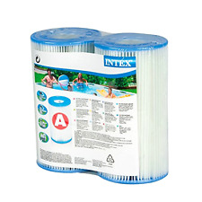 Intex Type A Filter Cartridge for Pools, Intex Filter Cartridge Twin Pack