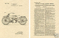 1924 HARLEY DAVIDSON Patent Art Print READY TO FRAME HD Motorcycle William