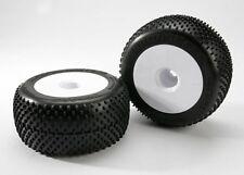 Traxxas 5375R Response Pro Tires & White Wheels 17mm Hex E-Revo T-Maxx Revo 3.3