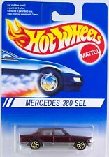 Hot Wheels Canadian Issue No. 253 Mercedes 380SEL Burgundy w/Gold 7SP's New 1997
