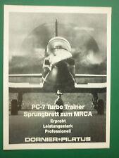 6/1978 PUB DORNIER PILATUS PC-7 TURBO TRAINER SWISS AIRCRAFT FLUGZEUG GERMAN AD