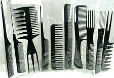 **NEW**10 PIECE COMB SET-PROFESSIONAL HAIRDRESSING/STYLING BARBERS COMB SET