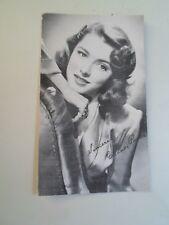 ELEANOR PARKER Postcard+Printed Signature Franked Burbank California  B2277