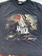 Coldplay viva la vida 2009 tour band t shirts mens XL LOT