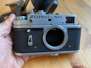 Rangefinder ZORKI 4K camera and Leather case