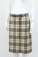 Burberry London Nova Check Wool Pencil Skirt Size M Made in Scotland