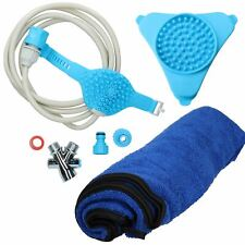Aquapaw Bathing Tool Shower Sprayer, Towel & Slow Feeder For Dog Grooming