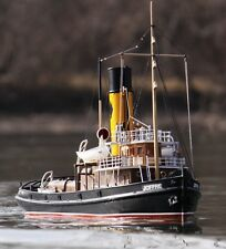 "Exquisite, RC-Ready Caldercraft Model Ship Kit: the ""Joffre Tyne Tug Boat"""
