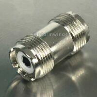 UHF female / female - barrel adapter coax cable connector coupler *USA Seller*
