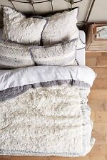 NWT ANTHROPOLOGIE TRADE ROUTE QUEEN QUILT DARK GREY CREAM COMBO *BRAND NEW*