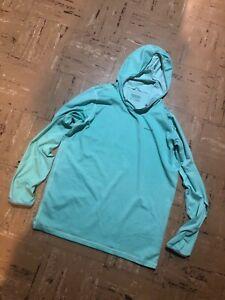 $59 Patagonia Men's Tropic Comfort Hoody Shirt Size Small Fly Fishing Shirt