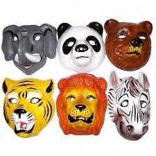 6 Animales Salvajes De Plástico Para Niños Cara masks/fancy Vestido Plástico Wildlife Máscaras