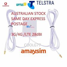 28dBi 3G 4G LTE ANTENNA BOOSTER FOR TELSTRA /VODAFONE MODEMS 2 x TS9 Connectors