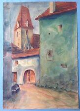 4v7:Impressionismus Aquarell Gemälde Weissenkirchen Wachau Österreich G.Weihmann