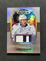2019-20 UPPER DECK STATURE CARTER VERHAEGHE ROOKIE AUTO PATCH #ed 18/33