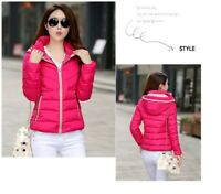 Women's Ladies Winter Parka Jacket Hooded Down cotton short Coat Clothes YJ