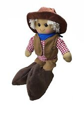 Personalised Handmade Rag Doll With 'Cowboy' Design 40cm. Great Gift