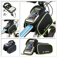 Bicycle Bike Front Frame Tube Bag for Mobile Phone Keys Tools Pannier Pouch Case