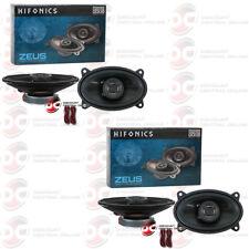 "4 x HIFONICS ZS46CX 4 x 6-INCH 4"" x 6"" 2-WAY CAR AUDIO COAXIAL SPEAKERS (PAIR)"